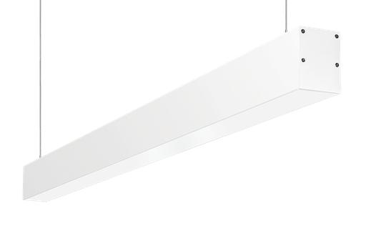 Linear Pendant 4Ft 40W,40 Deg, 4000k, LED, 0-10V, Dimmable, White