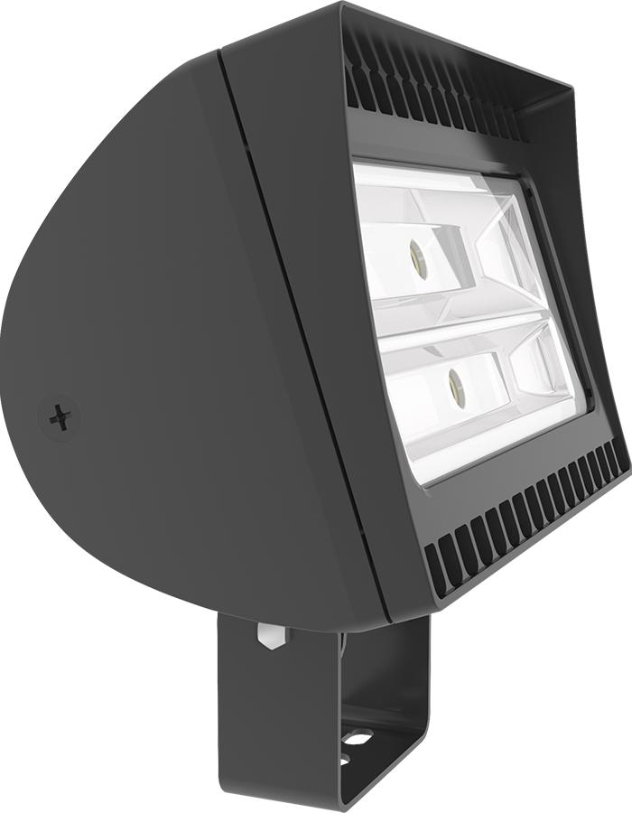 RAB FXLED150T 150 W 120/208/240/277 Volt 14 x 9 x 9 Inch Bronze Die-Cast Aluminum LED Floodlight Fixture