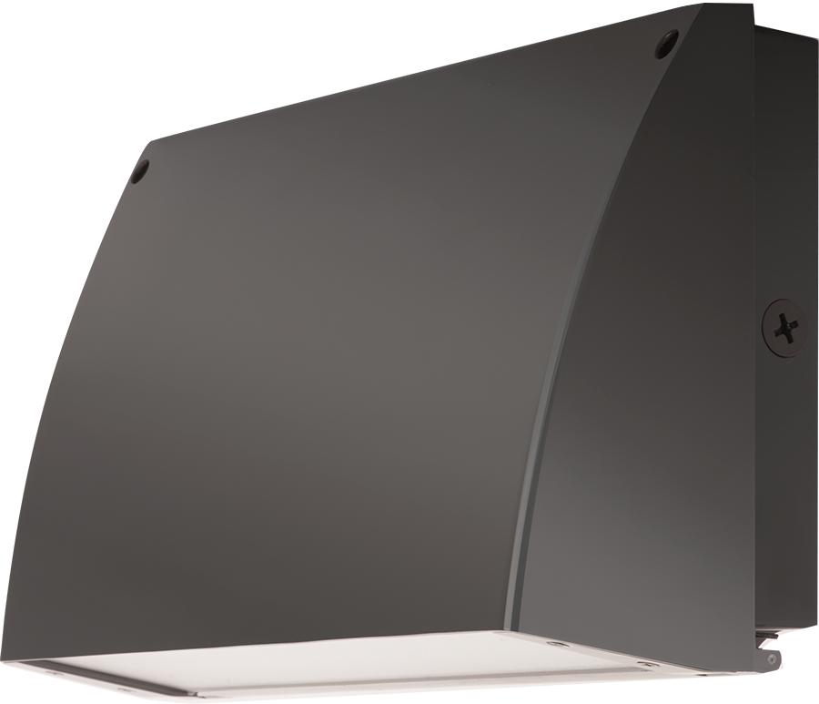 RAB SLIM57 57 W 120/208/ 240/277 Volt 14 x 9.3 x 5 Inch Cool Bronze LED Wall Pack