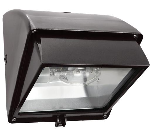 WALLPACK 70W HPS 120V NPF CUTOFF AND  LAMP BRONZE