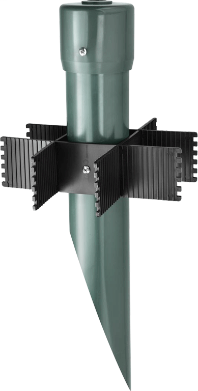RAB MP19VG 3-1/4 x 19 Inch Verde Green PVC Landscape Lighting Mounting Post