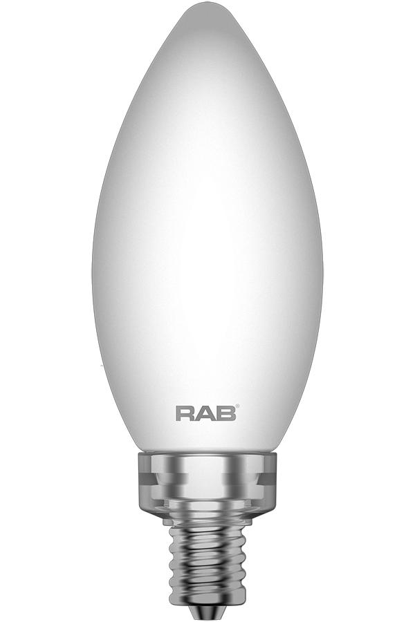 RAB LIGHTING Filament B11 5.5W 60EQ 500lm E12 CRI90 2700K Dim Frosted