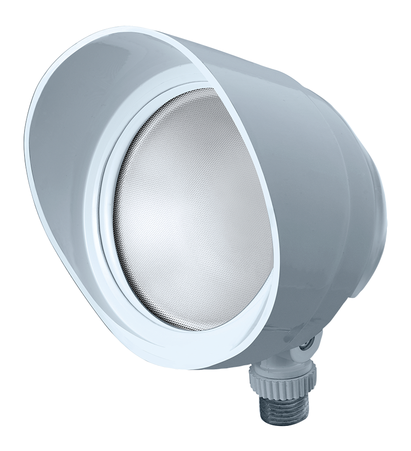 RAB BULLET12NW 12 W 120 Volt 4-3/4 x 4-1/2 Inch Neutral White Die-Cast Aluminum LED Floodlight Fixture