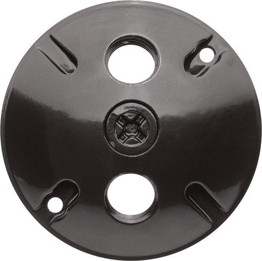 WEATHERPROOF COVER ROUND 3 HOLES BRONZE COLOR