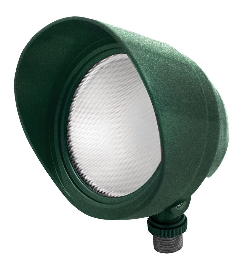 RAB BULLET12VG 12 W 120 Volt 4-3/4 x 4-1/2 Inch Cool Verde Green Die-Cast Aluminum LED Floodlight Fixture