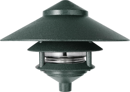 LAWN LIGHT 3 TIER AND  10 Inch  TOP 75W MAX VERDE GREEN