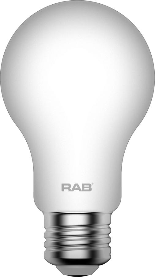 RAB LIGHTING Filament A19 9W 60EQ 810lm E26 CRI90 2700K Dim Frosted