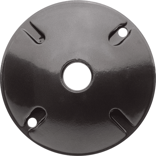 WEATHERPROOF COVER ROUND 1 HOLE BRONZE COLOR