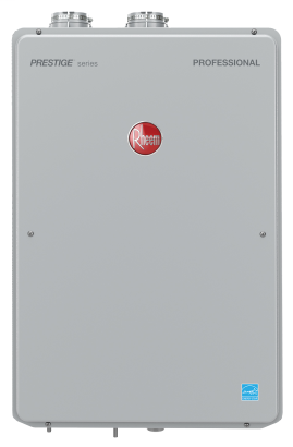 High Efficiency 9.5 GPM Indoor Natural Gas EcoNet Enabled Tankless Water Heater with 12 Year Limited Warranty RTGH-95DVLN-2