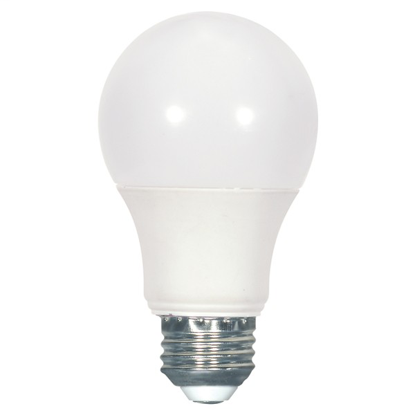 SATC S9112 6.4 WATT; A19 LED; FROSTED; 2700K MEDIUM BASE; 240' BEAM SPREAD; 120 VOLTS; NON-DIMMABLE