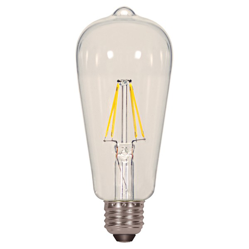 SAT S9581 6.5 WATT ST19 LED CLEAR MED BASE 2700K 81K; 810 LUMENS VINTAGE