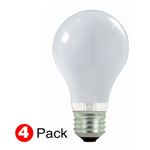 SAT S2450 72W 120V HALOGEN LAMP FROSTED (SELL QUANTITY 1=4-PACK)