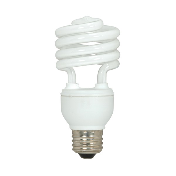 SATC S6236 13 WATT COMPACT FLUORESCENT SPIRAL CFL LAMP 13T2/E26/4100K 4PK SAT