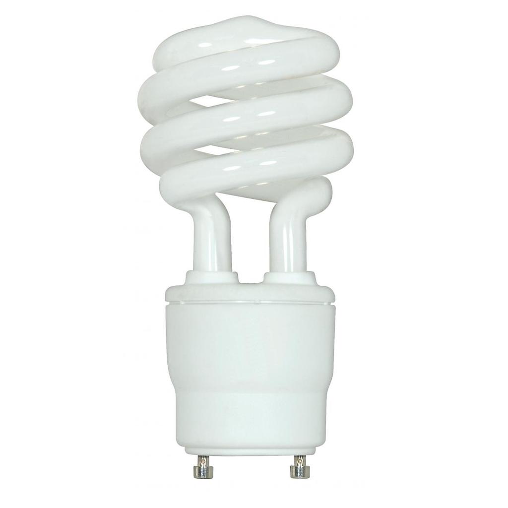 SATCO S8205 18 W 2700 K 82 CRI GU24 Base 120 Volt Spiral Compact Fluorescent Lamp