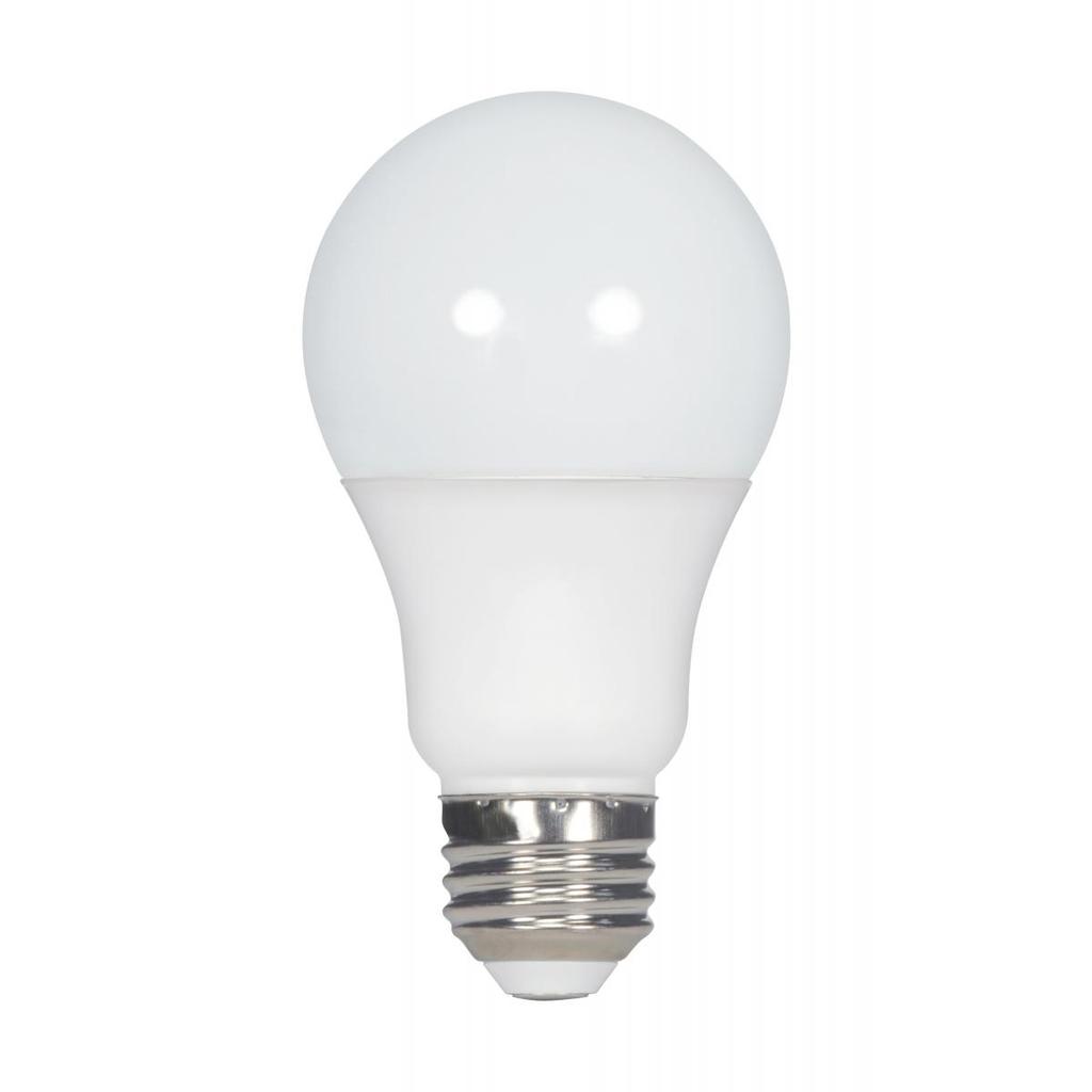 SAT S28557 5.5W; A19 LED; FROSTED;2700K; MEDIUM BASE; 120V; 4-PACK