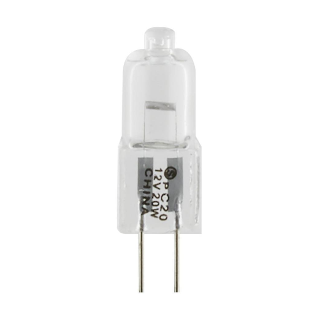 SATCO S3120 20 W 12 Volt 2900 K 320 Lumen Clear Bi-Pin G4 Base T3 Halogen Lamp