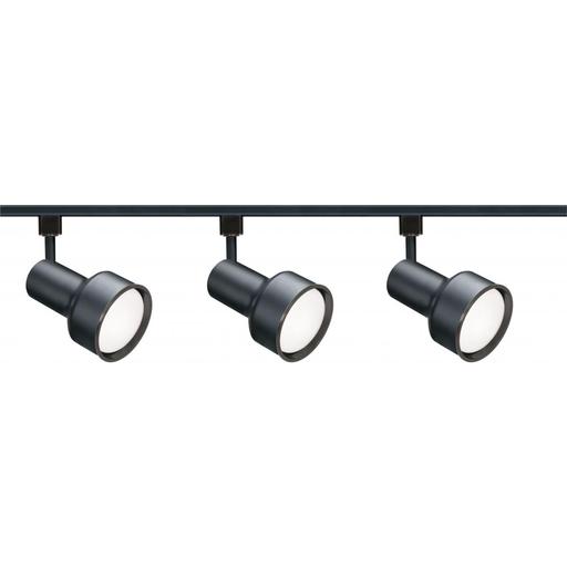 3 Light - R30 - Step Cylinder Track Kit - 4 foot Track - Black