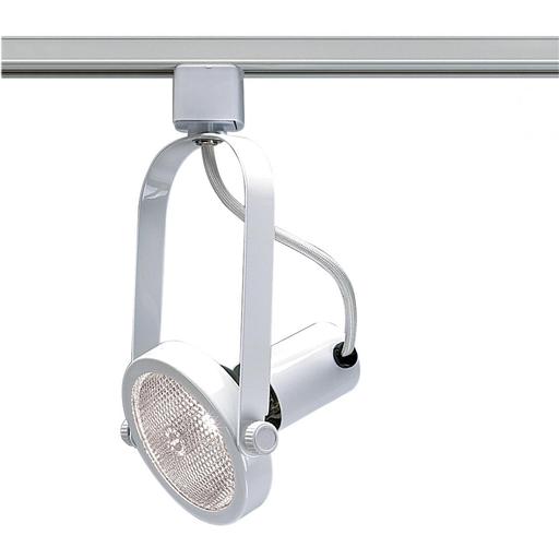 1 Light - PAR30 - Track Head - Gimbal Ring - White Finish
