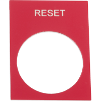 SQD ZB2BY2323 RESET LEGEND PLATE