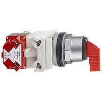 Mayer-Illuminated selector switch Ø 30 - red - 3 position spring return left to center-1