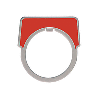 SQUARE D 30MM LEGEND PLATE - BLANK (RED)