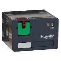 Power plug-in relay - Zelio RPM - 4 C/O - 120 V AC - 15 A