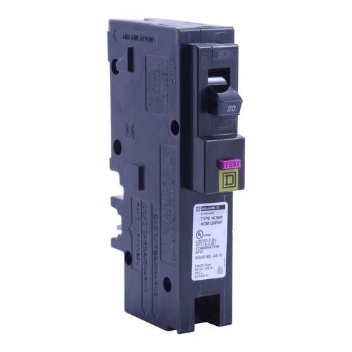 SQD HOM120PDF 1P 20A PLG-ON DUAL FUNCT ARC-FAULT/GFI CB 120V
