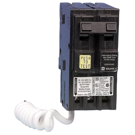 Squared Hom250gfi 120 240v 2p Homeline Gfci Circuit Breaker Plug On