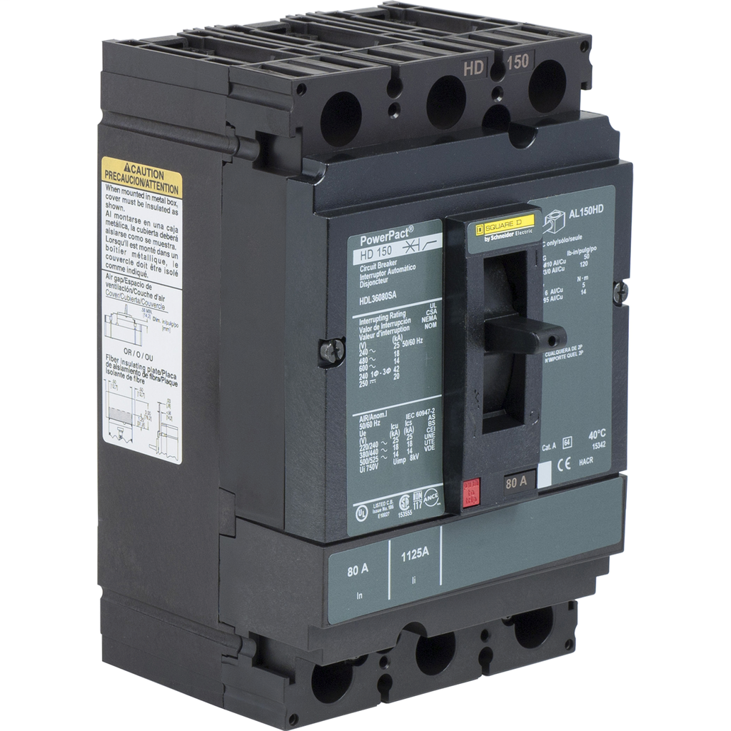 SQUARE D PowerPact H-Frame Molded Case Circuit Breakers Unit Mount - HDL36110SA