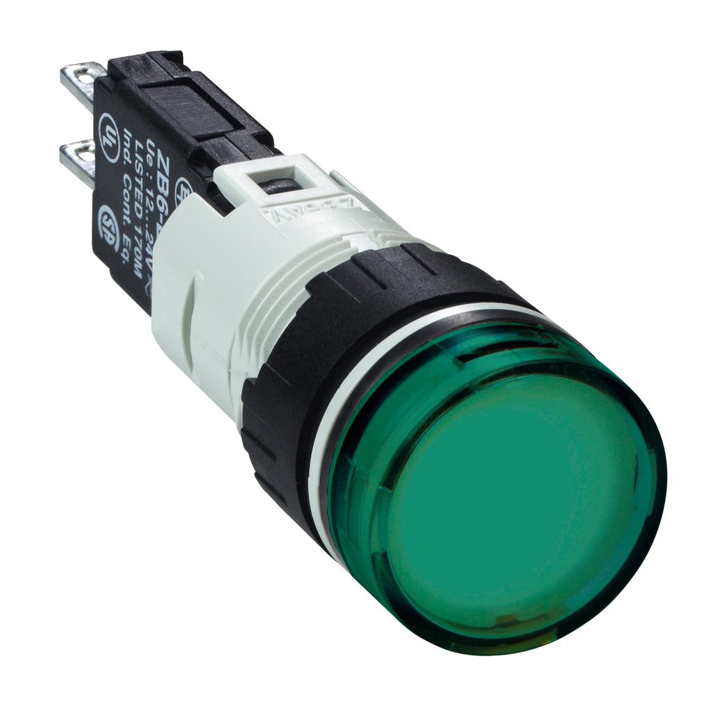 SQD XB6AV3BB PUSH BUTTON LIGHT MODULE 24V 16MM XB6