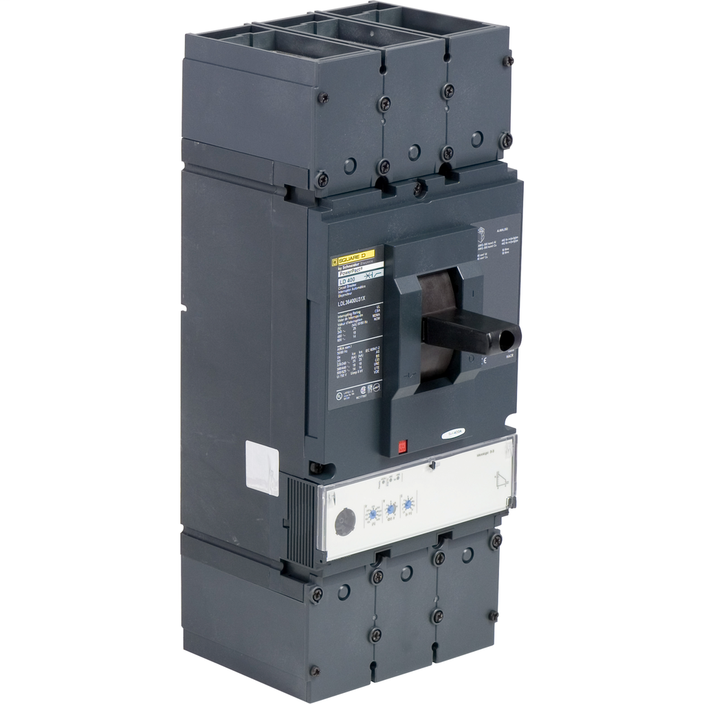 Sqd Ldl36400u31x Molded Case Circuit Breaker 600v 400a Springfield Standards And Description Of Circuitbreakers Electrical