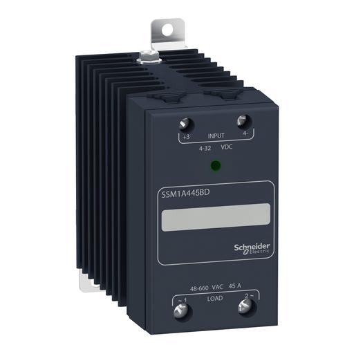SQD SSM1A445BD SSR 1 CH, 45A@48-660VAC ZC, 4-32VDC
