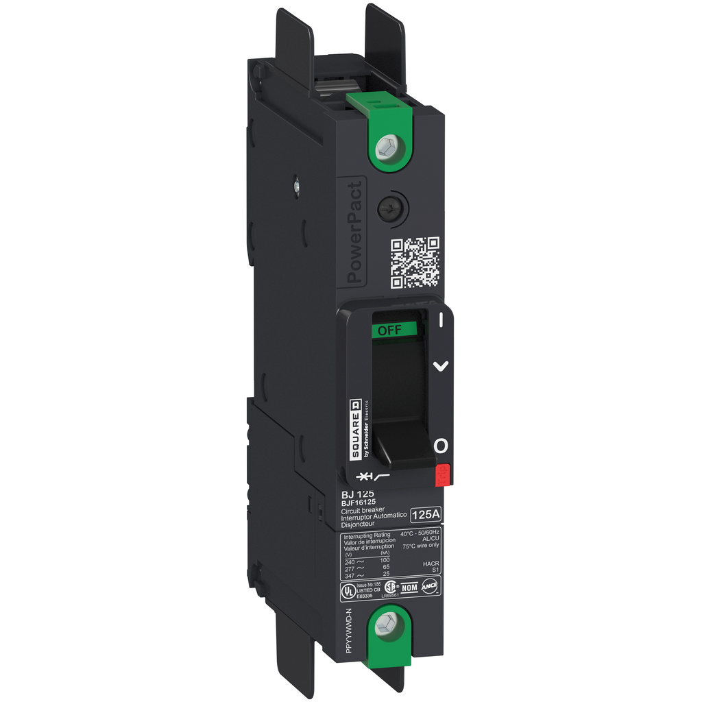 SQUARE D PowerPact B-Frame Molded Case Circuit Breakers Unit Mount - BGF16125