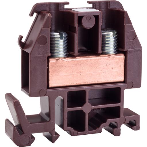 Mayer-Terminal Block, Box Lug Connector, Brown Colored Block, 600VAC/DC 60AMP-1