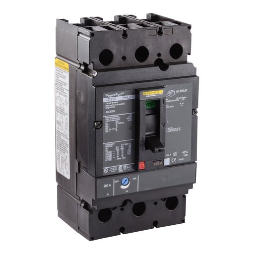 SQD JDL36200 200A 600V MOLDED CASE CIRCUIT LUG CIRC BKR
