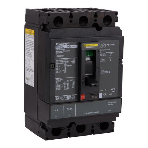 SQD HDL36125 125A 600V MOLDED CASE CIRCUIT