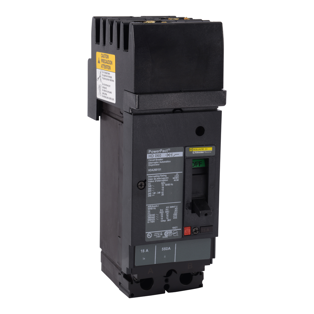 SQUARE D PowerPact H-Frame Molded Case Circuit Breakers I-Line - HDA261501