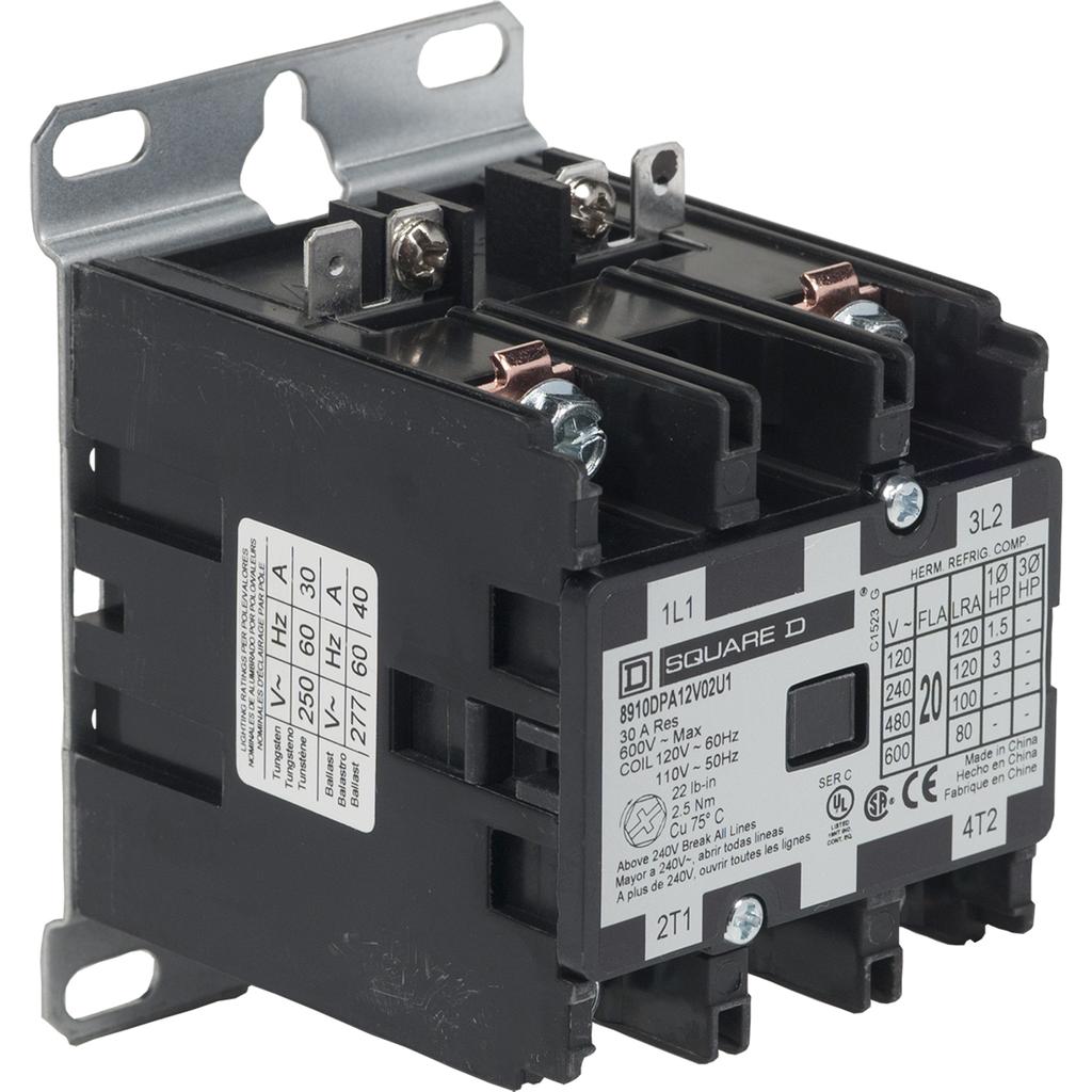 SQUARE D 8910 Definite Purpose Contactors - 8910DPA12V02U1