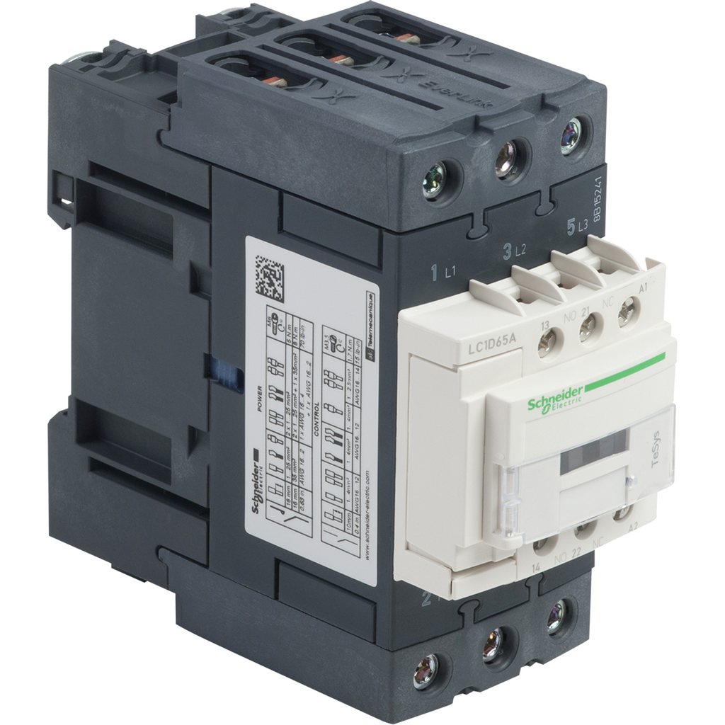 SQD LC1D65AF7 TESYS D 3P EVERLINK AC CONTACTOR AC3 65A IEC