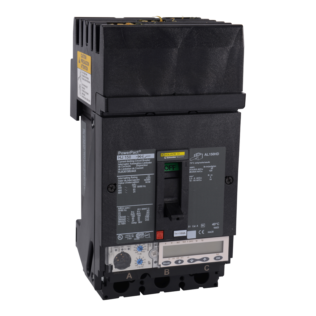 SCHNEIDER ELECTRIC PowerPact H-Frame Molded Case Circuit Breakers I-Line - HJA36150U44X