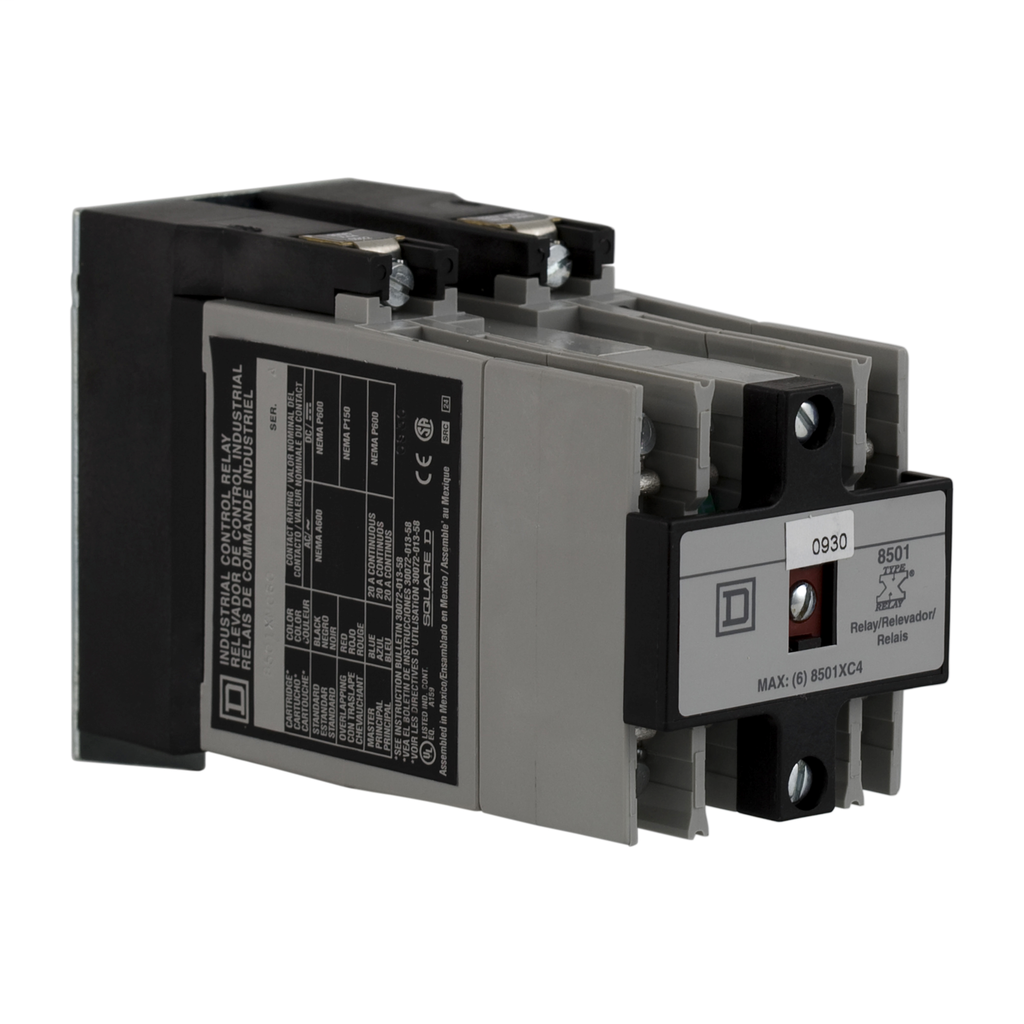 Mayer-NEMA Control Relay Mounting Track for 4 Relays-1