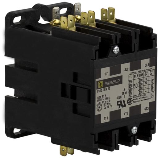 SQD 8910DPA53V02 50A 600V CONTACTOR DPA OPTIONS