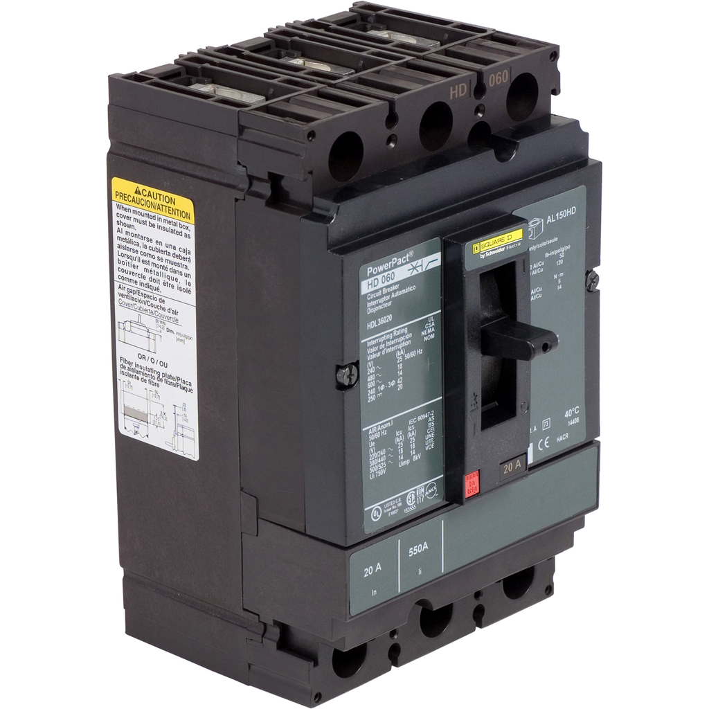 SQUARE D PowerPact H-Frame Molded Case Circuit Breakers Unit Mount - HDL36020C
