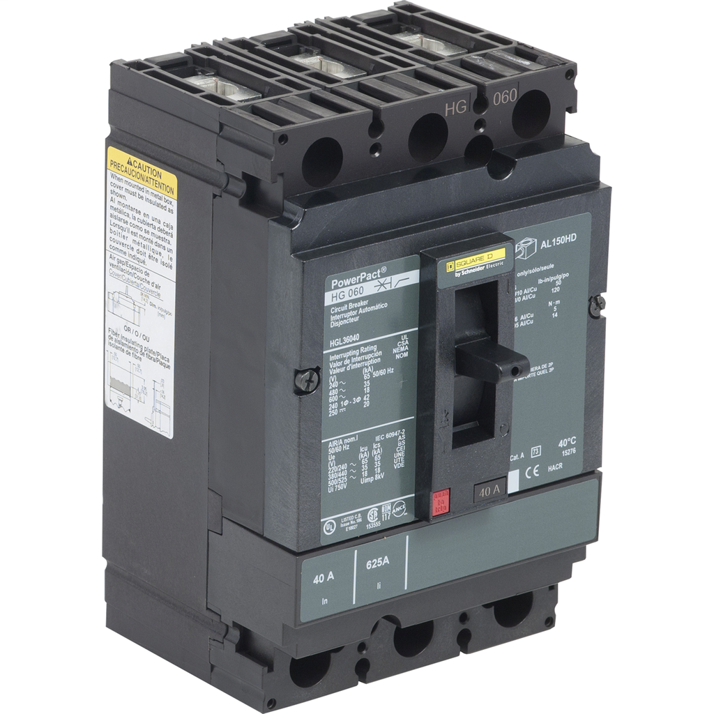 SQUARE D PowerPact H-Frame Molded Case Circuit Breakers Unit Mount - HGL36040