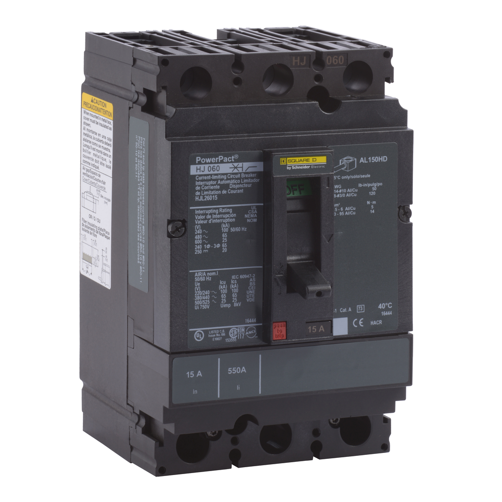 PowerPact H-Frame Molded Case Circuit Breakers Unit Mount - HJL26100