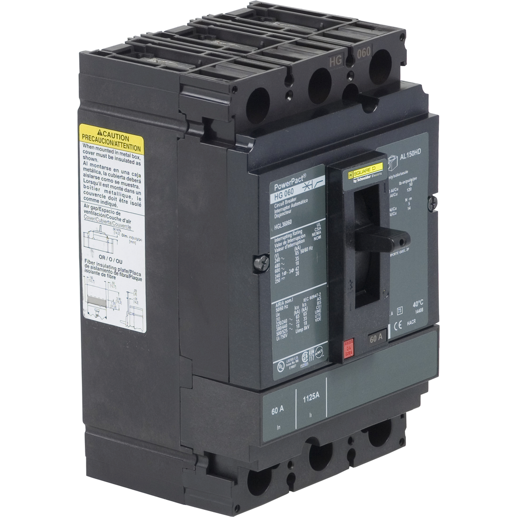 SQUARE D PowerPact H-Frame Molded Case Circuit Breakers Unit Mount - HGL36050C