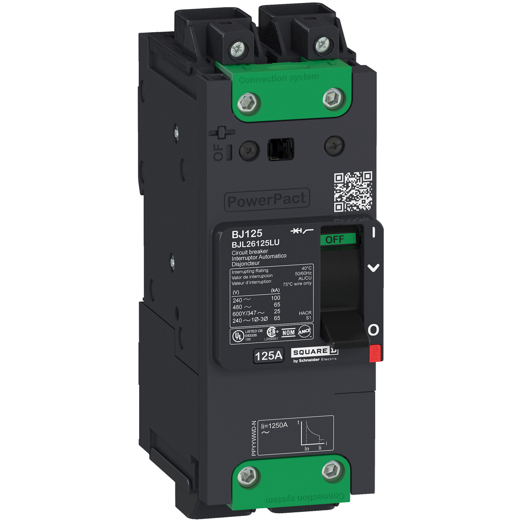 SQUARE D PowerPact B-Frame Molded Case Circuit Breakers Unit Mount - BJL26015LU