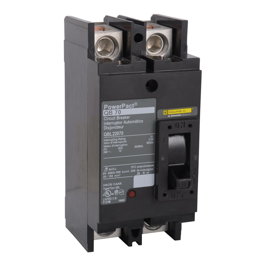 SquareD QBL22200 PowerPact Q molded case circuit breaker 2p 10kA 240V 200A