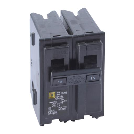 SQD HOM215 2P 15A 120/240V CIRCUIT BREAKER
