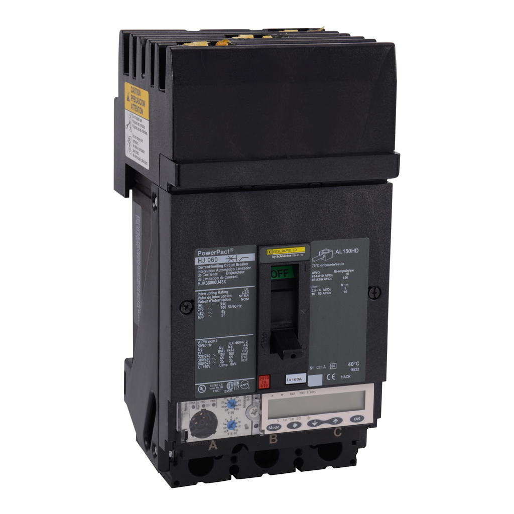 SCHNEIDER ELECTRIC PowerPact H-Frame Molded Case Circuit Breakers I-Line - HJA36060U43X